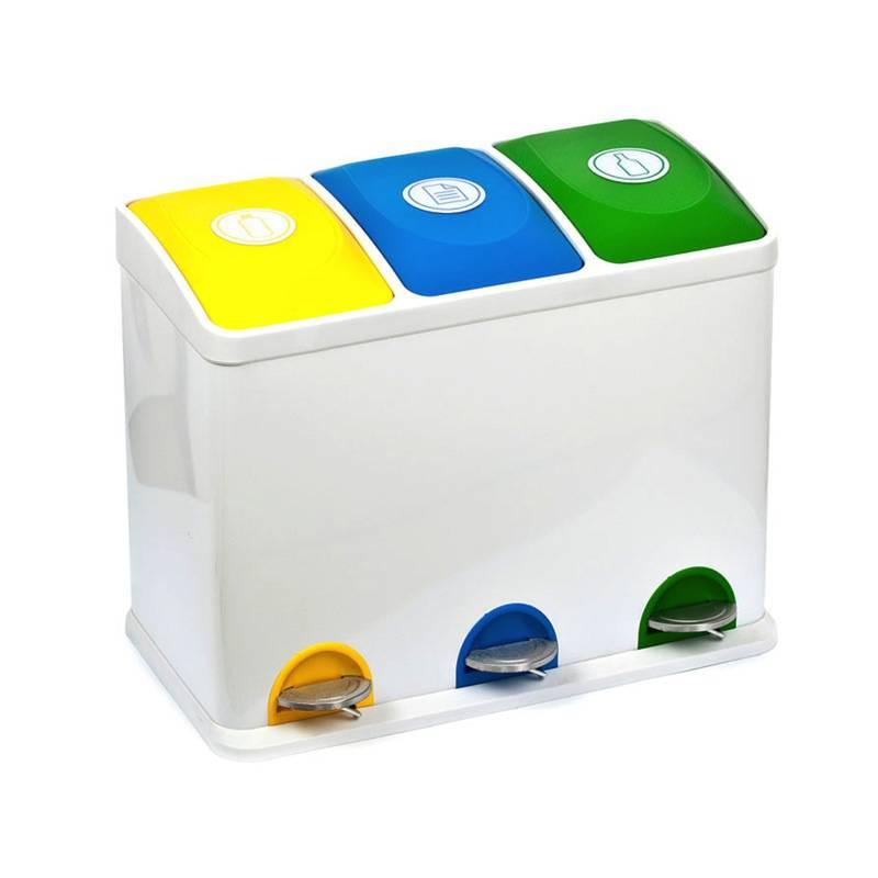 Geliefde Prullenbakken met 3 vakken voor afvalscheiding | Thuisrecycling.nl QE82