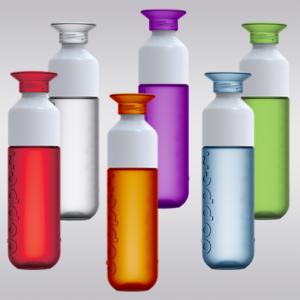 Dopper waterfles in zes verschillende kleuren