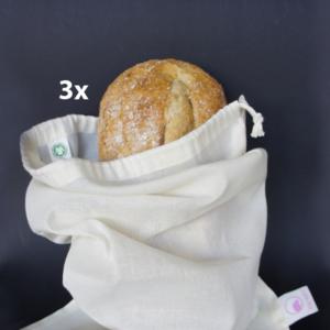 herbruikbare broodzakken van biologisch katoen