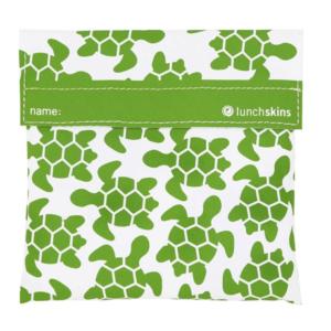 LunchSkins Sandwich Bag Green Turtle - de herbruikbare vervanger van het plastic broodzakje