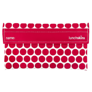 LunchSkins Snack Bag Red Dots - nooit meer een plastic zakje om jouw snacks