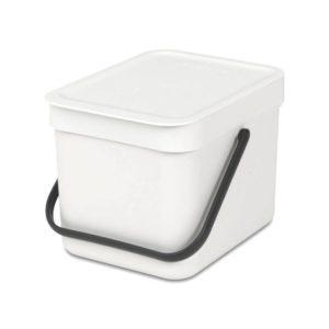 Brabantia Sort & Go voor GFT afval - 6ltr wit