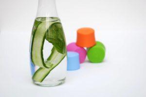 recept voor in je waterflesje - komkommer munt