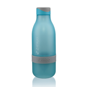 Zingo Blue | Blauw - waterflesje met citruspers